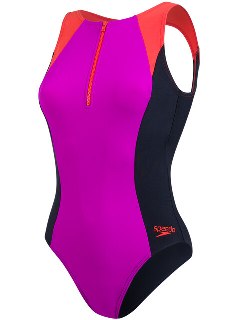 speedo Hydrasuit Swimsuit Women Diva/Black/Hot Orange